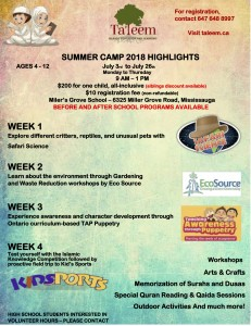 TALEEM SUMMER CAMP FLYER FINAL 2.0