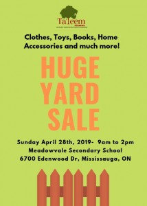 Green Background Fence Yard Sale Flyer