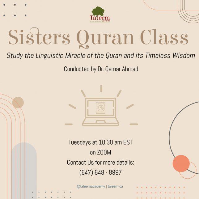 Sisters Quran Class FINAL